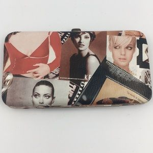 Models Collage Hard Hinged Flap Wallet